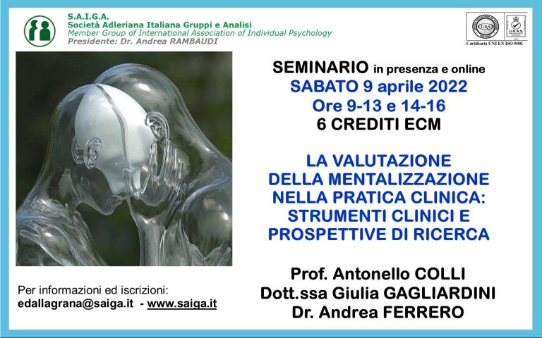 PRIMO ANNUNCIO (AUTUNNO INVERNO 2021-2022) - STRUMENTI CLINICIAN-REPORT PER LA VALUTAZIONE DELLA MENTALIZZAZIONE NELLA PRATICA CLINICA