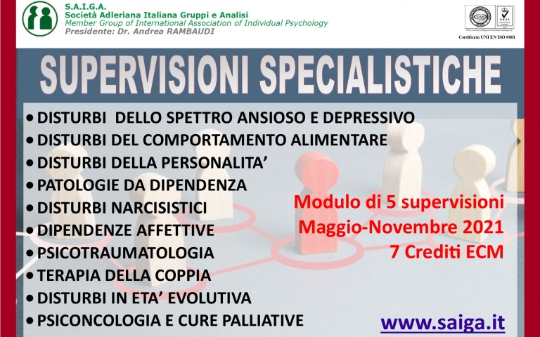 SUPERVISIONI SPECIALISTICHE - SU RICHIESTA